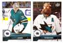 2017-18 Upper Deck Hockey (Base) Team Set - San Jose Sharks