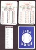 1933 APBA Season (from 2O12 No Envelope) - NEW YORK YANKEES Team Set