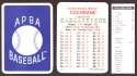 1933 APBA Season (from 2O12 No Envelope) - PHILADELPHIA ATHLETICS / A's Team Set
