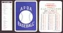 1933 APBA Season (from 2O12 No Envelope) - ST LOUIS BROWNS (ORIOLES) Team Set