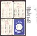 1930 APBA Reprint Season - PITTSBURGH PIRATES Team Set