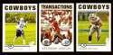 2004 Topps Gold Letter Football Team Set - DALLAS COWBOYS