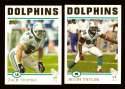 2004 Topps Gold Letter Football Team Set - MIAMI DOLPHINS
