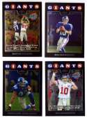 2008 Topps Chrome (Base 1-165) Football Team Set - NEW YORK GIANTS