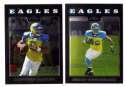 2008 Topps Chrome (Base 1-165) Football Team Set - PHILADELPHIA EAGLES