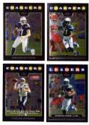 2008 Topps Chrome (Base 1-165) Football Team Set - SAN DIEGO CHARGERS