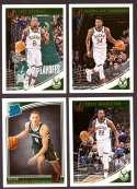 2018-19 Donruss Basketball Team Set - Milwaukee Bucks (6 Cards)
