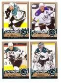 2008-09 O-Pee-Chee OPC Hockey (Base 1-500) Team Set - San Jose Sharks