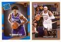 2017-18 Donruss Basketball Team Set - Sacramento Kings