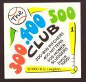 1980 Laughlin 300/400/500 Header Card