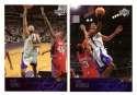 2003-04 Upper Deck Basketball (Base 1-300) Team Set - Sacramento Kings