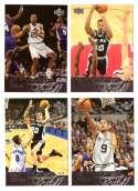 2003-04 Upper Deck Basketball (Base 1-300) Team Set - San Antonio Spurs