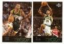 2003-04 Upper Deck Basketball (Base 1-300) Team Set - Seattle Supersonics