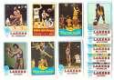 1973-74 Topps Basketball Team Set - Los Angeles Lakers