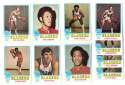 1973-74 Topps Basketball Team Set - Portland Trail Blazers