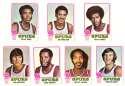 1973-74 Topps Basketball Team Set - San Antonio Spurs