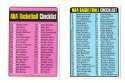 1973-74 Topps Basketball Checklist 2 cards