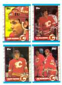 1989-90 Topps Hockey Team Set - Calgary Flames