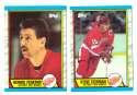 1989-90 Topps Hockey Team Set - Detroit Red Wings
