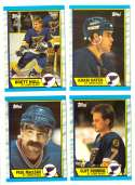 1989-90 Topps Hockey Team Set - St. Louis Blues
