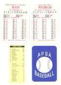 1956 APBA (RR Reprint) Season (Copyright 2OO4) - NEW YORK GIANTS Team Set