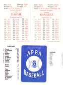 1997 APBA Season w/ XB Players 30 Cards - CLEVELAND INDIANS Team Set