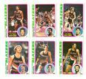 1978-79 Topps Basketball Team Set - Portland Trail Blazers