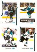 2011-12 Score Hockey (1-546) Team Set - San Jose Sharks