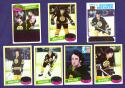1980-81 Topps Hockey Team Set - Boston Bruins w/ Ray Bourque RC (B)