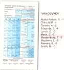 1997-98 Strat-O-Matic SOM NBA Basketball - Vancouver Grizzlies Team Set
